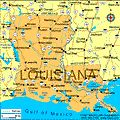 Map of Louisiana entered the union on April 30,1812, and was the 18th state to join.  The capital is Baton Rouge.
