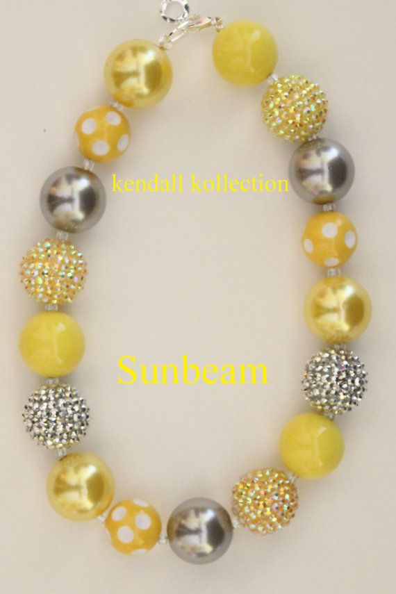 """Sunbeam"" Chunky Beaded Necklace for women, girls, kids"