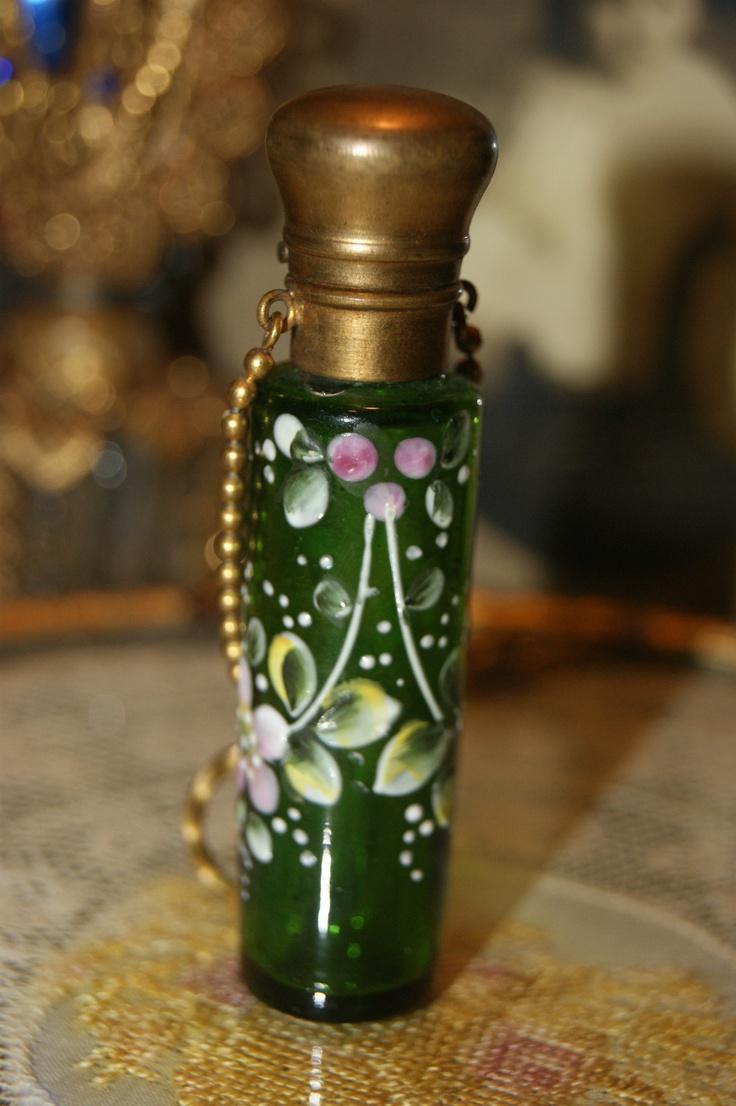 2465 best precious perfume bottles images on pinterest antique green glass enamel chatelaine perfumescent bottle finger ring moser reviewsmspy