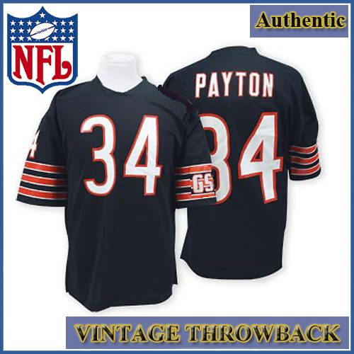 super popular 163e9 2b0b5 Chicago Bears Authentic Style Throwback Navy Jersey #34 ...
