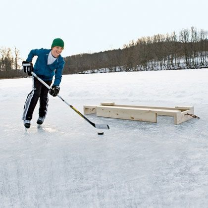 You might need this in ND....Build a Pond Hockey Goal