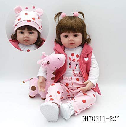 Pinky 24 Inch <b>61cm</b> Lovely <b>Reborn Baby</b> Girl Doll <b>Reborn</b> Toddler ...