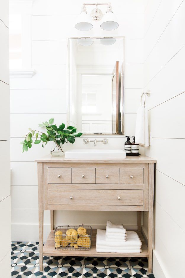 Use Mixed Storage | Small Bathroom Ideas: Simple Ways To Maximize Your Space