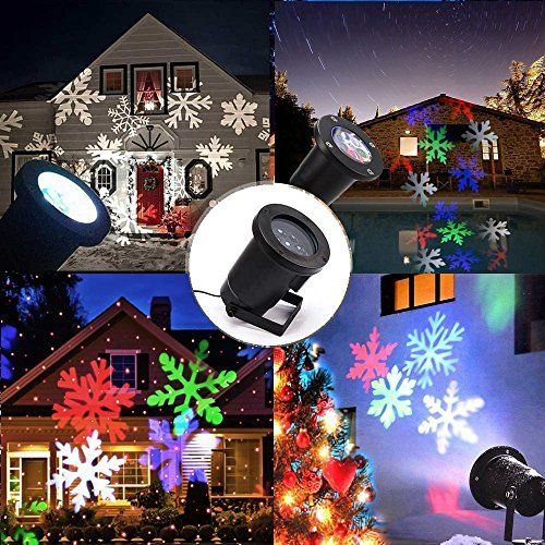Projecteur flocons de neige spots led clairage clairage for Eclairage de noel laser