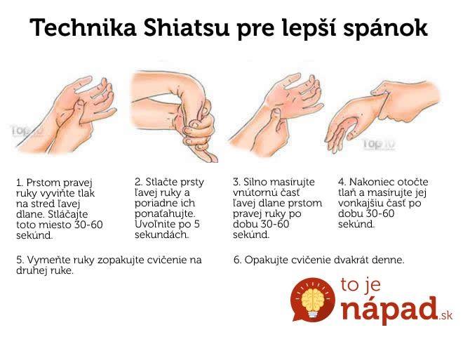 Shiatsu je tradičná japonská masáž, ktorá sa využíva už stáročia na zlepšenie fungovania celého organizmu. Možno preto ju tiež nazývajú akupunktúra bez ihiel. Je to umenie dotyku, ktoré je založené na znalostiach a princípoch starej čínskej medicíny, avšak pochádza z Japonska. V podstate ide o použitie tlaku na kritické časti ľudského tela. Toto cvičenie pomôže...