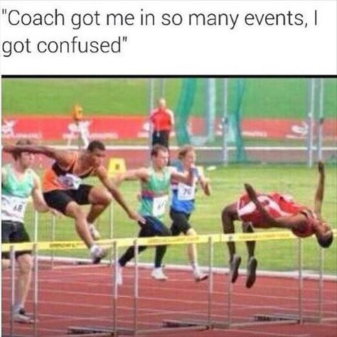 Best 25 track and field events ideas on pinterest hurdles coach got me in so many track and field events i got confused voltagebd Images
