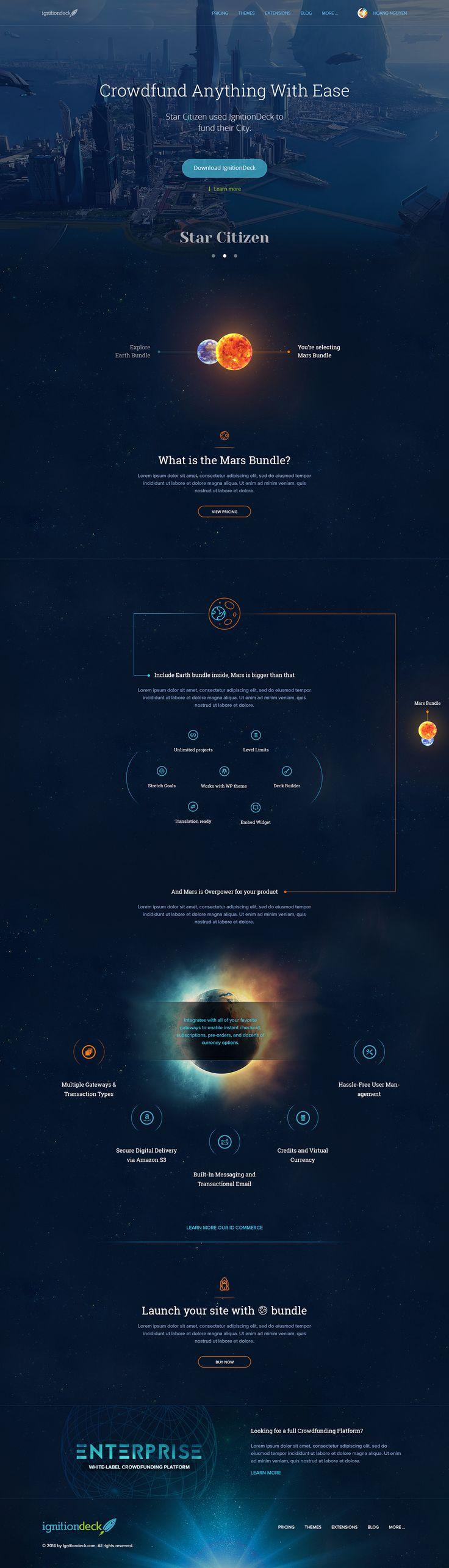 IgnitionDeck LandingPages Set on Behance