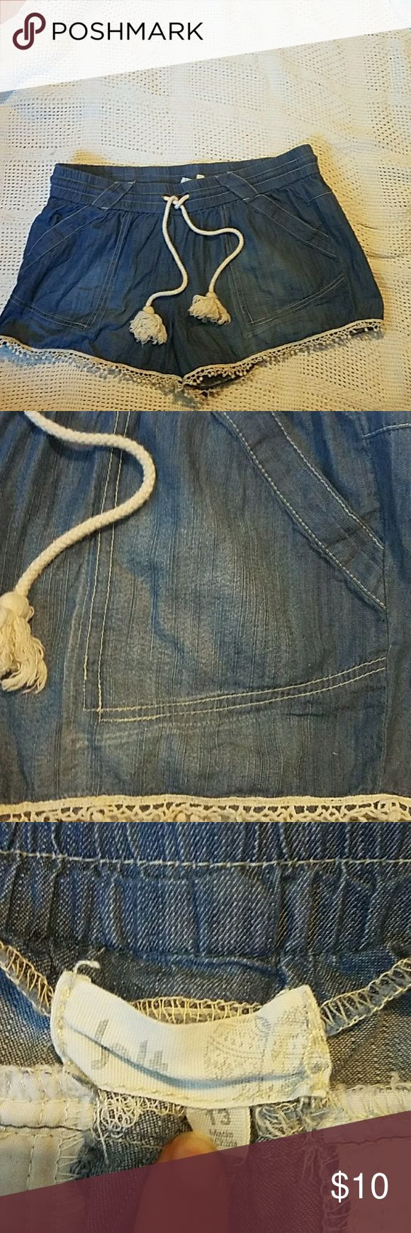 Jolt soft blue drawstring lace trim shorts These shorts have been worn but are in excellent condition. Jolt Shorts