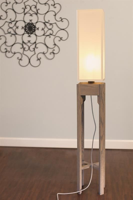 Wooden Floor Lamp Project Designer - Floor Lamps -   This lamp is a DIY project designed for Buildsomething.com. The idea is that you can build it using only dimensional lumber from the box stores (Lowes, Home Depot), and by making minimal cuts. The hardware is from Color Cord, the diffuser panels are from Inventables, the material is oak and... #Bedroom #Bedside #Design #Diy #Floorlamp #Handmade #Huge #Modern #Oak #Tutorial #Wood #Woodlamp