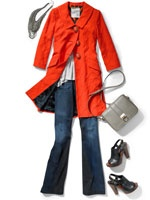 LOVE!  This coat is fabulous!: Color Combos, Colors Trench, Fall Outfits, Orange Jacket
