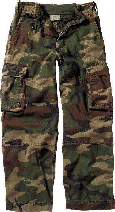 Kids Woodland Camouflage Vintage Paratrooper Fatigue Pants  Rothco  Pants 980e2a1939e