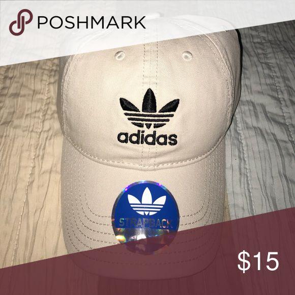 Tan Adidas Baseball Dad Cap Adjustable Tan colored Adidas baseball hat. Brand new never worn adidas Accessories Hats