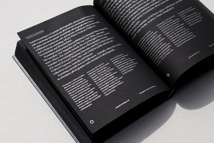 Conception graphique du livre d'artiste Astres Noirs, dialogue entre l'œuvre des photographes Katrin Koenning et Sarker Protick pour la maison d'édition Chose Commune. Ouvrage bilingue français – anglais, 160 × 220 mm, 168 pages. 1500 ex. don…