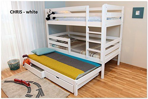 3ft Single Triple Bunk Bed made of Solid Pine Wood (White Wash) WoodenBeds4You http://www.amazon.co.uk/dp/B00ZUW66QA/ref=cm_sw_r_pi_dp_YBFqwb1KJ0YZF