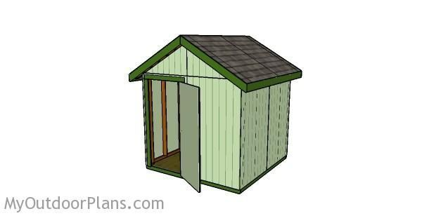 8x8 Shed Plans | Free Outdoor Plans - DIY Shed, Wooden Playhouse, Bbq, Woodworking Projects #DIYShed8x8