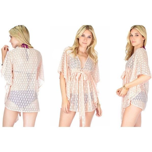 Women's Lyss Loo Women's Cover-Up TopBlush-Small/Medium ($20) ❤ liked on Polyvore featuring swimwear, cover-ups, pink, pink swimsuit, bathing suit cover ups, swim suits, cover up swimwear and cover up bathing suit