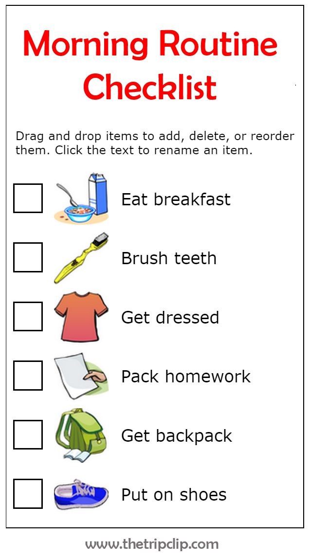 Get organized with this drag and drop morning routine checklist. The pictures make it easy for big and little kids to know what needs to be done next. And you will stop being a drill sergeant shouting out orders!
