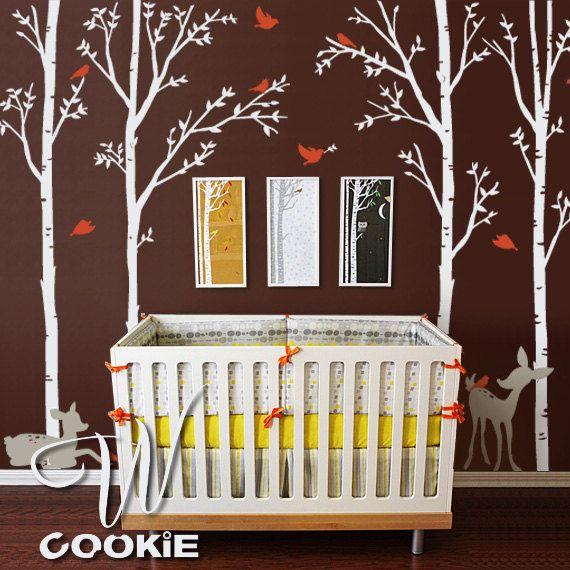 17 best ideas about birch tree mural on pinterest babies for Birch tree mural nursery