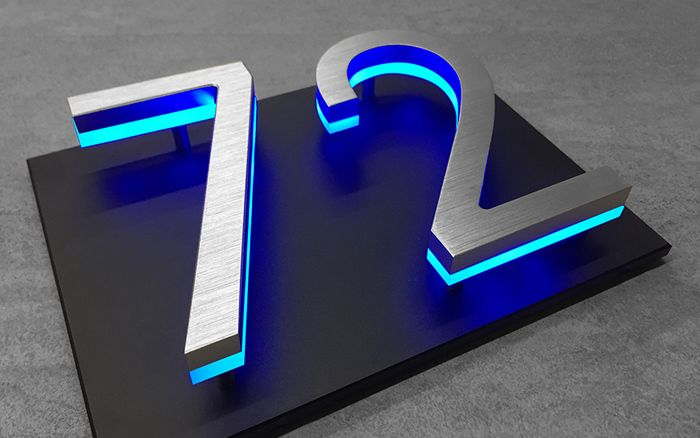 Backplate Mounting Plate For House Numbers Luxello With Images Led House Numbers House Numbers House Numbers Diy