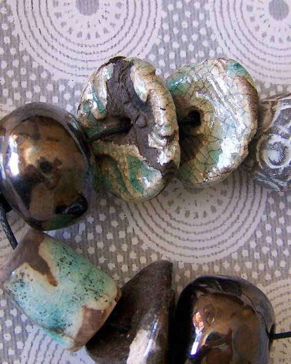 80 best raku ceramic beads images on pinterest ceramic beads cape raku pendant and bead set by earthbutterstudio on etsy 1650 aloadofball Choice Image