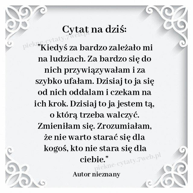 Cytat Na Dzis In 2020 Interpersonal Relations Writing Prompts Quotes