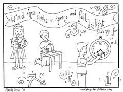 If Youre A Teacher Or Home School Parent This Free Coloring Sheet Might Help You Teach About Daylight Savings Time DST It Was Created By Mandy Groce