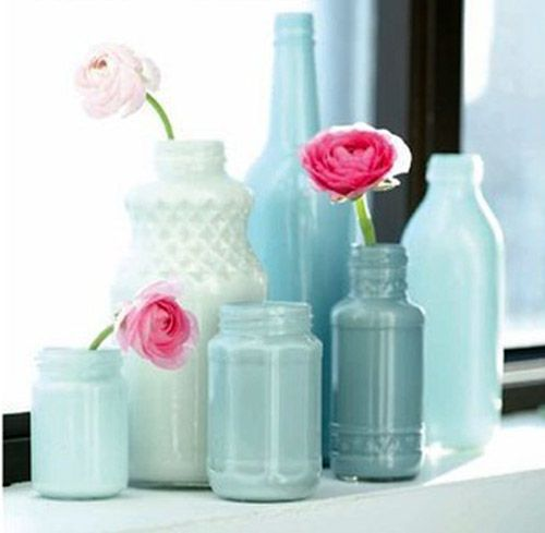 Paint glass bottles with acrylic paint paint for glass for Can i paint glass with acrylic paint