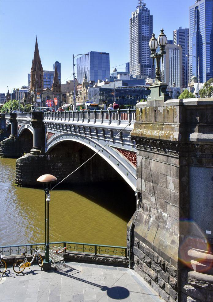 'City Bridge'. Princes Bridge, Melbourne. © G.C. Campbell.