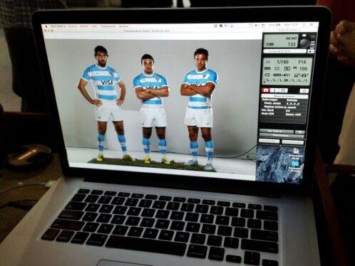 De shooting con Los Pumas para Renault