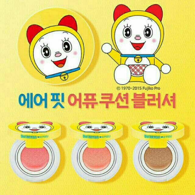 ขาย AIR-FIT A'PIEU CUSHION BLUSHER (DORAEMON EDITION) ในราคา ฿350 ซื้อได้ที่ Shopee ตอนนี้เลย!http://shopee.co.th/beautyrunway/2221565  #ShopeeTH