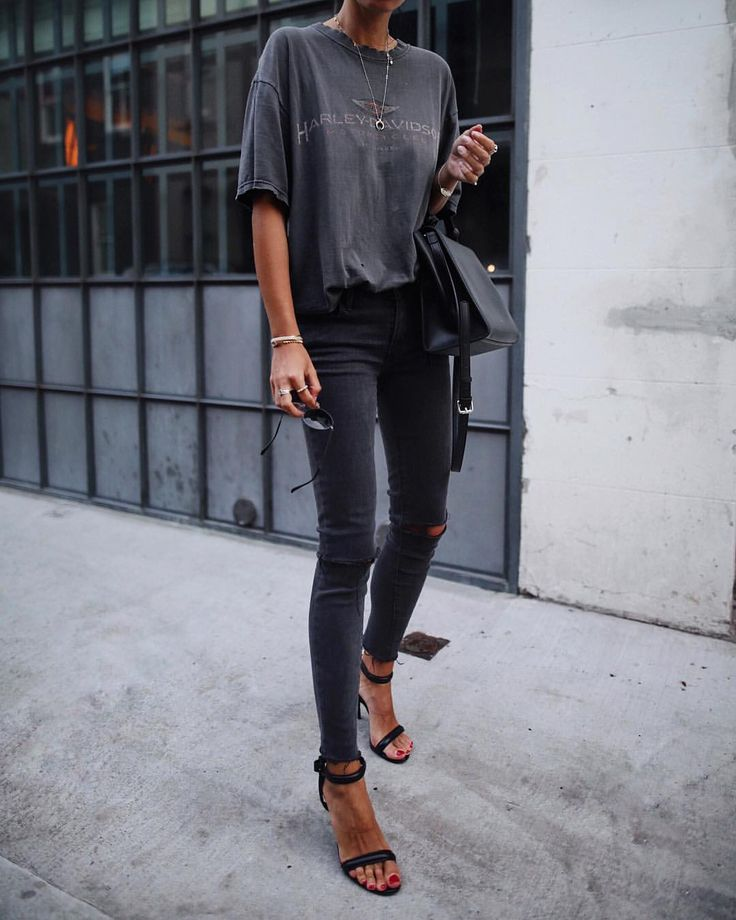 "12.1k Likes, 81 Comments - Andy Csinger (@andicsinger) on Instagram: ""Washed out black ✔️ // @levis jeans & #alexanderwang heels """