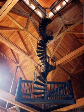 Spiral Staircase Leading To The Loft In The Barn
