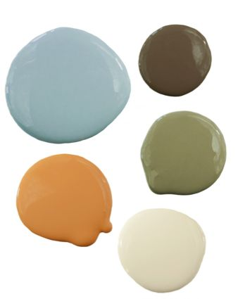 Natural Color Palette from Pure Home, sage green, love all but the yellow