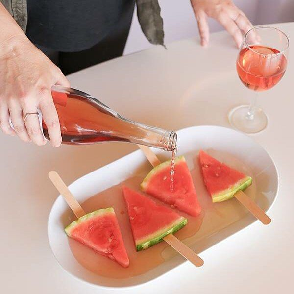 I can't get enough of @laurenconrad's recipe for Drunken Watermelon Popsicles! grab a free bottle of ClubW's Watermelon Comocero rosé by visiting: www.clubw.com/womenwholovewine #WomenWhoLoveWine #wineo #drunkenpopsicles #weekend