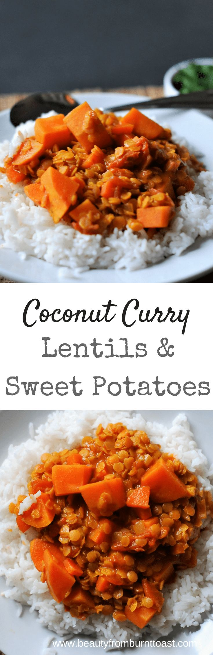 This creamy coconut curry lentil dish is perfect for lunch or dinner. Thick and satisfying, this meal can easily be customized to your liking by adding vegetables or adjusting spices. Learn to love Indian food. It's warming, delicious, and soul-filling.