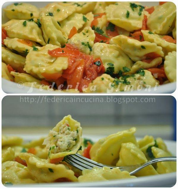 La cucina di Federica: Bottoncini di pasta fresca ripiena con orata e gamberi