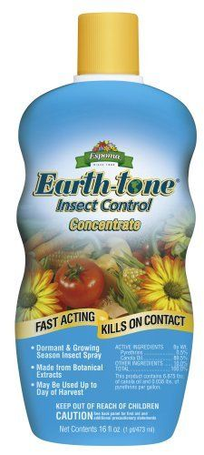 Espoma Organic Earth-Tone Insect Control - 16 oz Concentrate ICC16 by Espoma. $15.43. Backed by Manufacturer's warranty.. Call Flora Hydroponics today!. Have questions about this product?. From the Manufacturer                Earth-tone Insect Control will control insect pests such as: aphids, beetles (e.g., Colorado potato beetle, flea beetle, Japanese beetle, asparagus beetle), caterpillars (e.g., gypsy moth caterpillars, tent caterpillar, diamondback moth larvae, l...