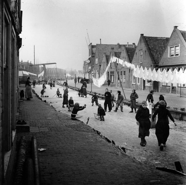 """"""" Winter in Holland """" about 1950-1955. photo: Kees Scherer   Washer Odor?   Smelly Towels?   Stinky Clean Laundry?   WasherFan.com   Permanently Eliminate or Prevent Washer & Laundry Odor with Washer Fan™ Breeze™  #Laundry #WasherOdor"""