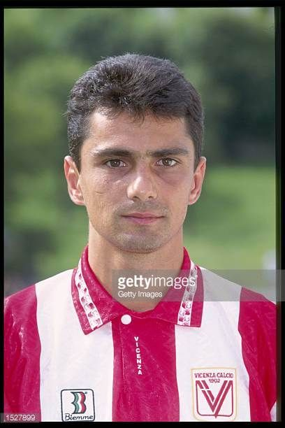 A portrait of Giovanni Lopez of Vicenza taken during the club photocall Mandatory Credit Allsport UK