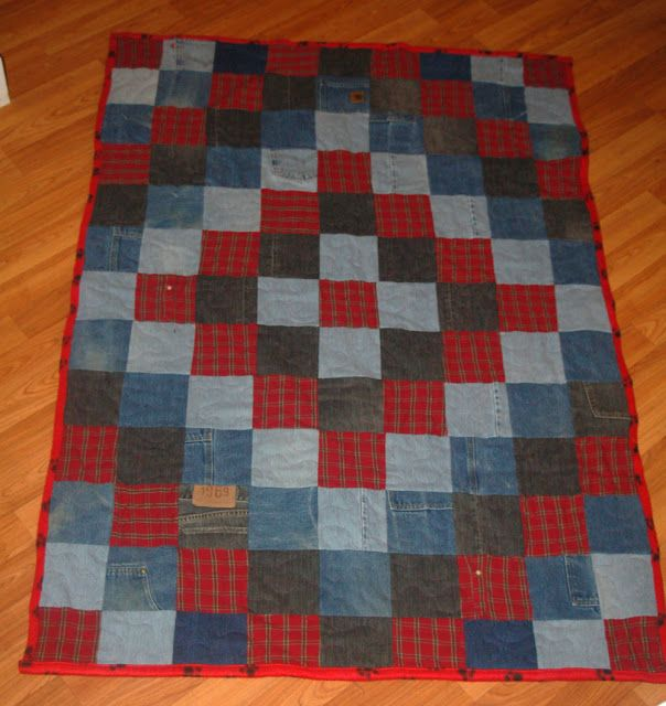 8 Best Images About Crafts Blue Jean Quilts On Pinterest
