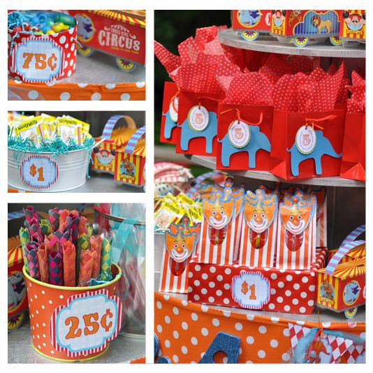 12 Fun Circus Carnival Party Games: Amy's Party Ideas: Circus Carnival Party