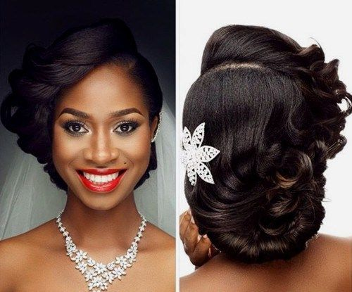 Wedding Hairstyles For Black Women Unique 468 Best African American Wedding Hair Images On Pinterest  Wedding