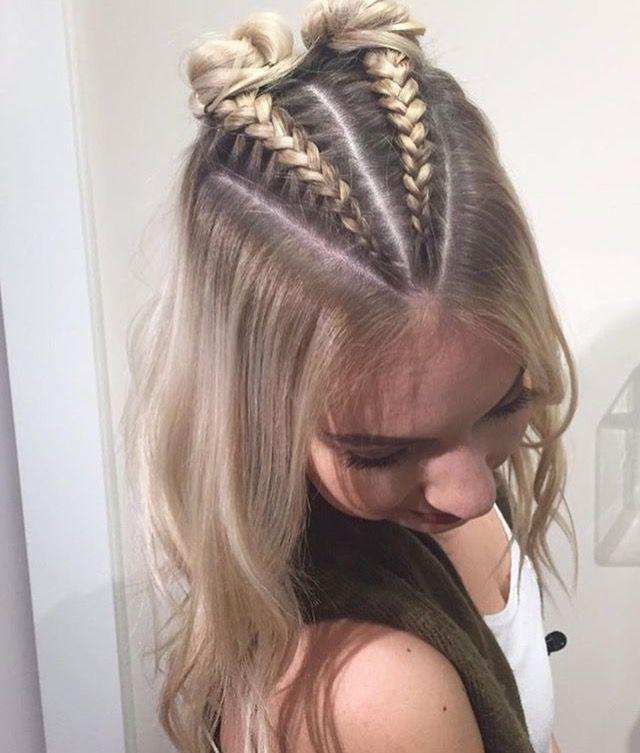 peinado fácil con trenza. #peinadofacil #peinados #trenzas