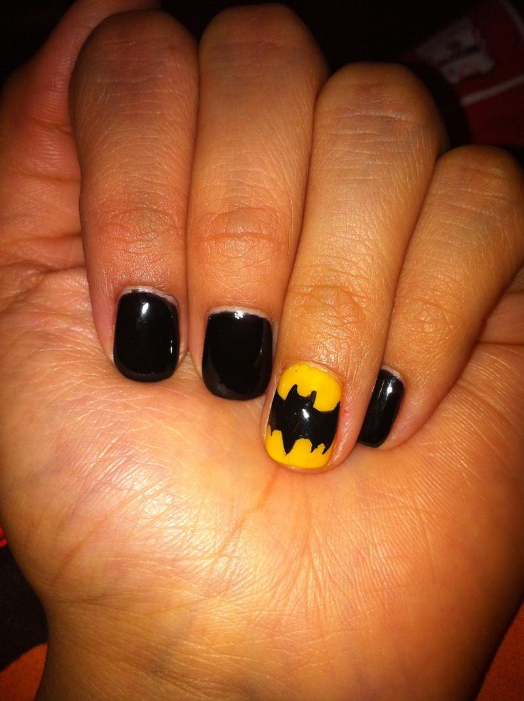 Best 25 batman nails ideas on pinterest batman nail designs batman nails prinsesfo Image collections