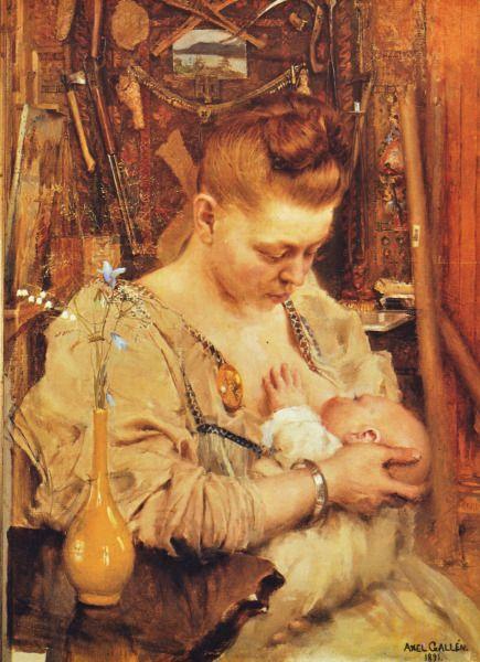 """Madonna"" (1891) by Akseli Gallen-Kallela"