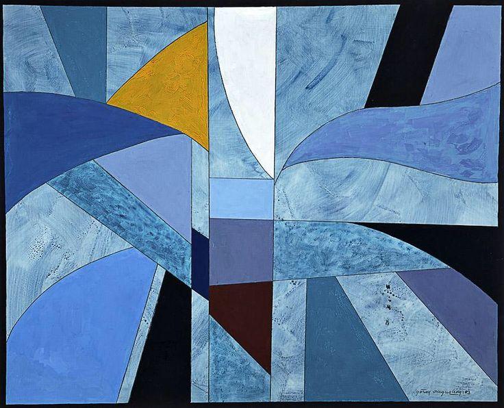Göran Augustson (Finnish, 1936-2012), Composition, 1993. Gouache, 88.00 x 108.00 cm