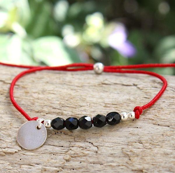 bracelet cordon perles de cristal chez www.unbijouforyou.com
