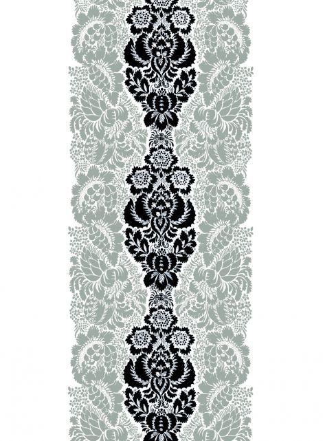Ananas fabric (white, black, grey) |Fabrics, Cottons | Marimekko