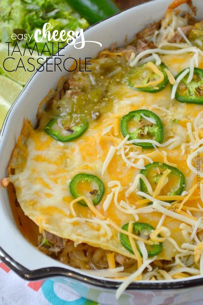 Easy Cheesy Tamale Casserole