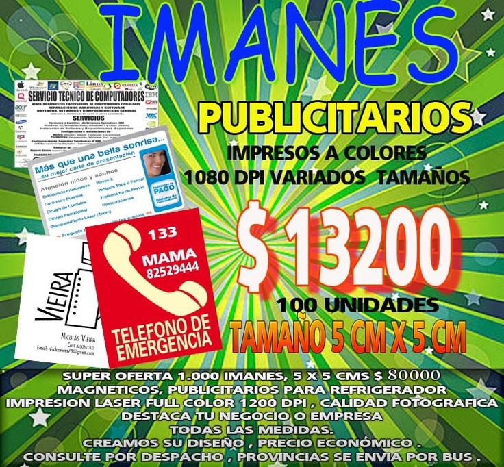 IMANES PUBLICITARIOS 5 X5